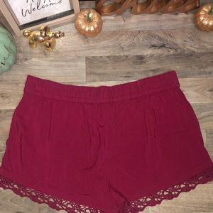 Express Shorts - NWOT! Burgundy Express Shorts!❤️